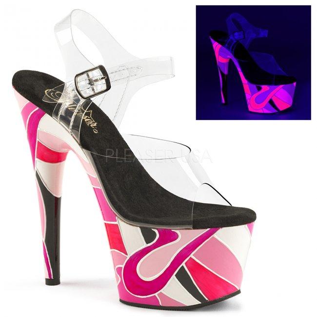 vysoké dámské UV sandálky na platformě Adore-708uvr-cpnkmc - Velikost 35