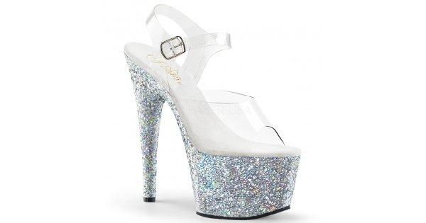 3a251f66f27 dámské stříbrné sandály s glitry na vysoké platformě Adore-708lg-csg -  Velikost 41   SEXYBOTY.cz