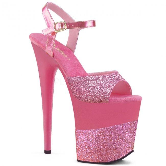 extra vysoké dámské boty s glitry Flamingo-809-2g-png - Velikost 38