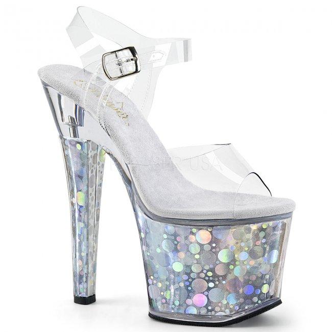 dámské vysoké sandálky s hologramy Radiant-708bhg-cs - Velikost 37