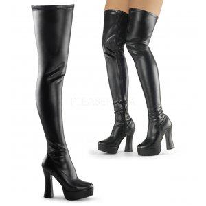 černé dámské kozačky nad kolena Electra-3000z-bpu