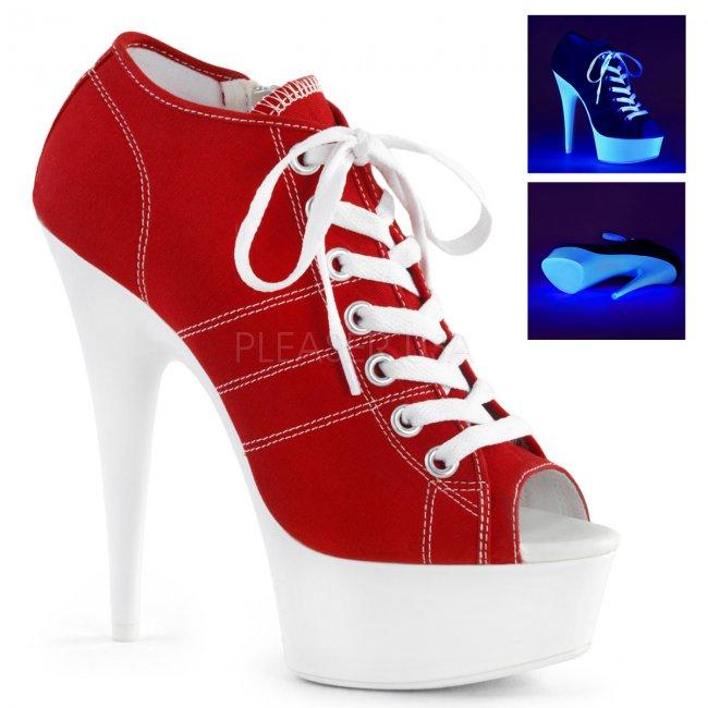 červené dámské tenisky na platformě a podpatku Delight-600sk-01-rcanw - Velikost 42