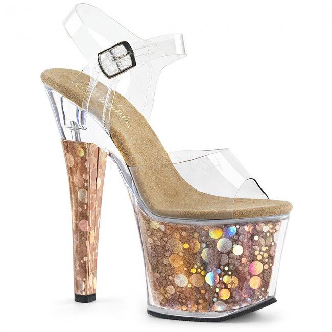 dámské vysoké sandálky s hologramy Radiant-708bhg-cbz - Velikost 37