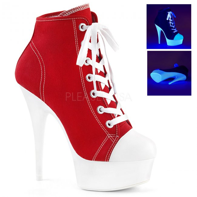dámské červené tenisky na platformě a podpatku Delight-600sk-02-rcanw - Velikost 40