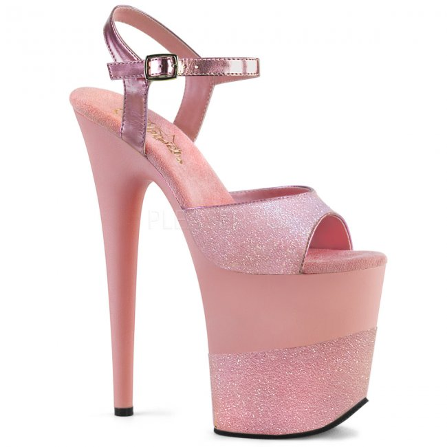 extra vysoké dámské boty s glitry Flamingo-809-2g-bpg - Velikost 35