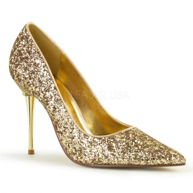 dámské lodičky se zlatými glitry Appeal-20g-gpu - Velikost 45
