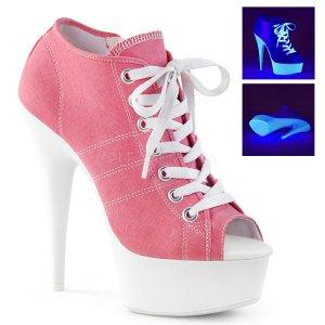 dámské růžové tenisky na platformě a podpatku Delight-600sk-01-pncanw