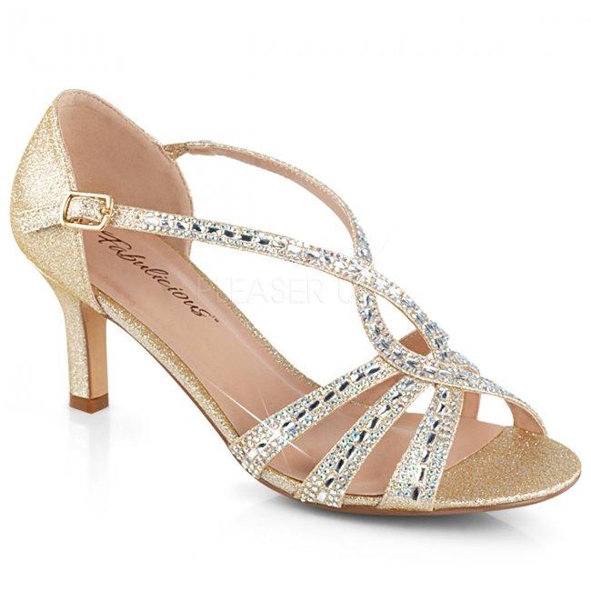 zlaté dámské společenské sandálky Missy-03-chafa - Velikost 41