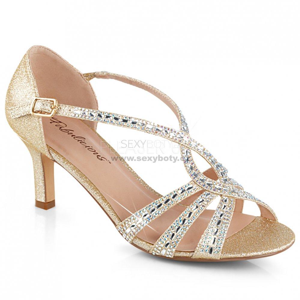 zlaté dámské společenské sandálky Missy-03-chafa - Velikost 35 ... 4aaf5992d1