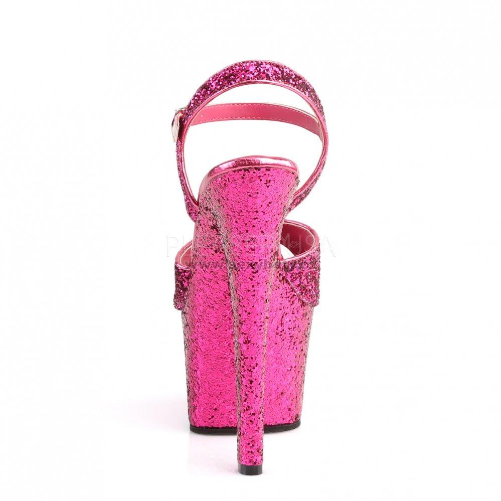 908034552c62 růžové vysoké dámské sandály s glitry Sky-310lg-hpg - Velikost 36 ...
