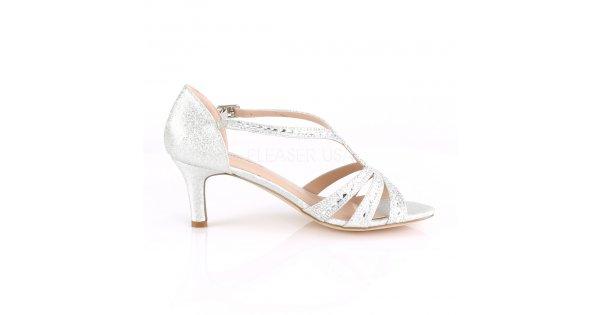 62e6db30006 dámské stříbrné společenské sandálky Missy-03-sfa - Velikost 36    SEXYBOTY.cz