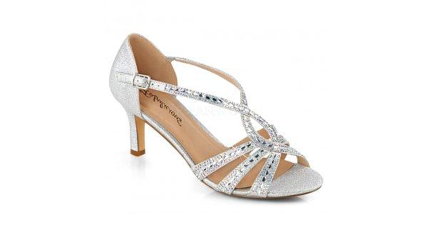 973a62eb9d1 dámské stříbrné společenské sandálky Missy-03-sfa - Velikost 35    SEXYBOTY.cz