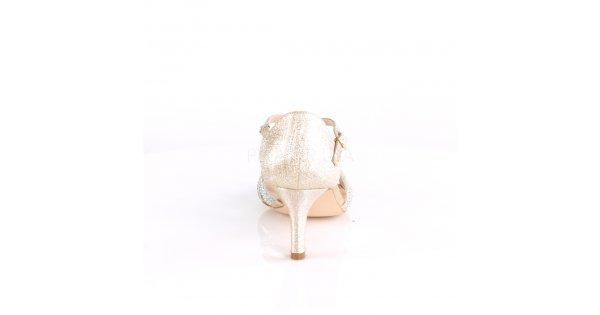 da5a50f51cb zlaté dámské společenské sandálky Missy-03-chafa - Velikost 39   SEXYBOTY.cz