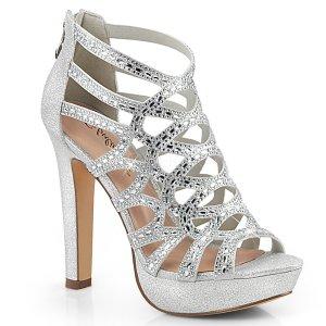 dámské stříbrné kotníkové sandálky Selene-24-sfa