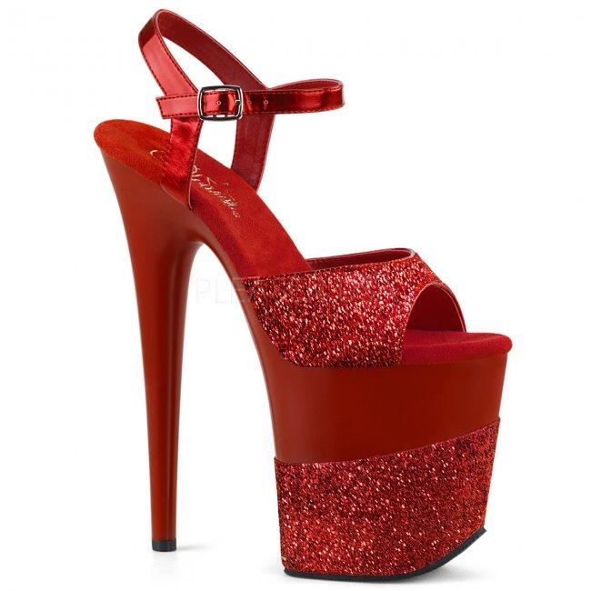 extra vysoké dámské boty s glitry Flamingo-809-2g-rg - Velikost 39