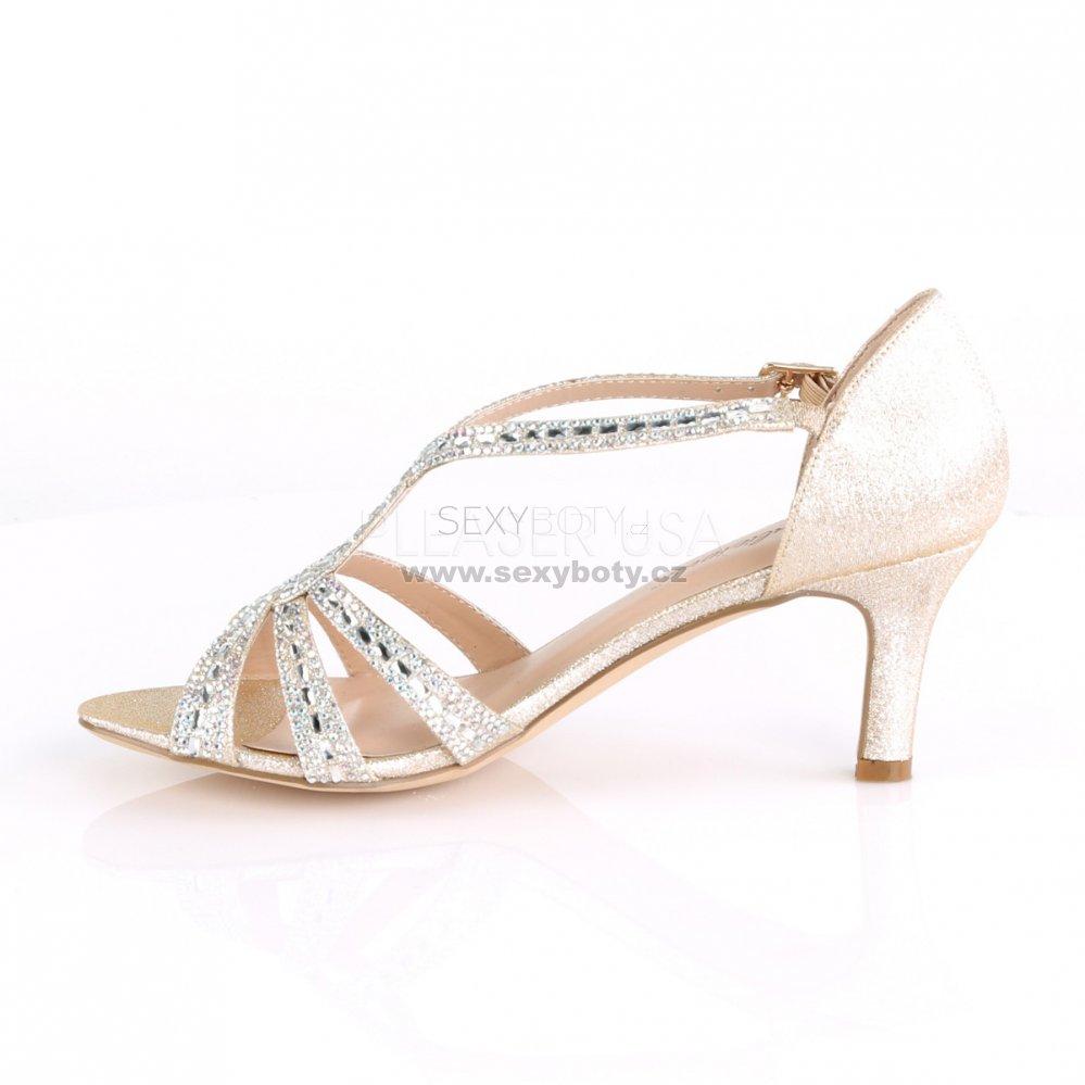 zlaté dámské společenské sandálky Missy-03-chafa - Velikost 40 ... c195b2374e
