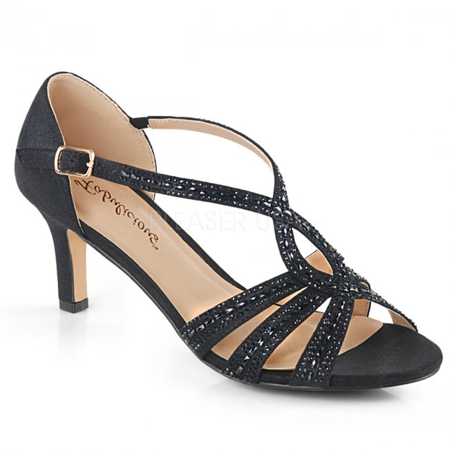 černé dámské společenské sandálky Missy-03-bfa - Velikost 39