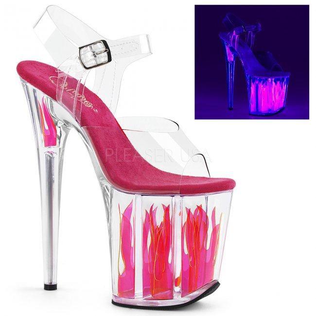 extra vysoké dámské boty s plameny Flamingo-808flm-cchp - Velikost 40