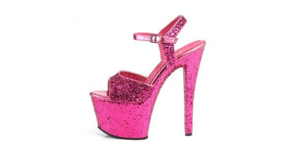 7d75b83ff006 růžové vysoké dámské sandály s glitry Sky-310lg-hpg - Velikost 36    SEXYBOTY.cz