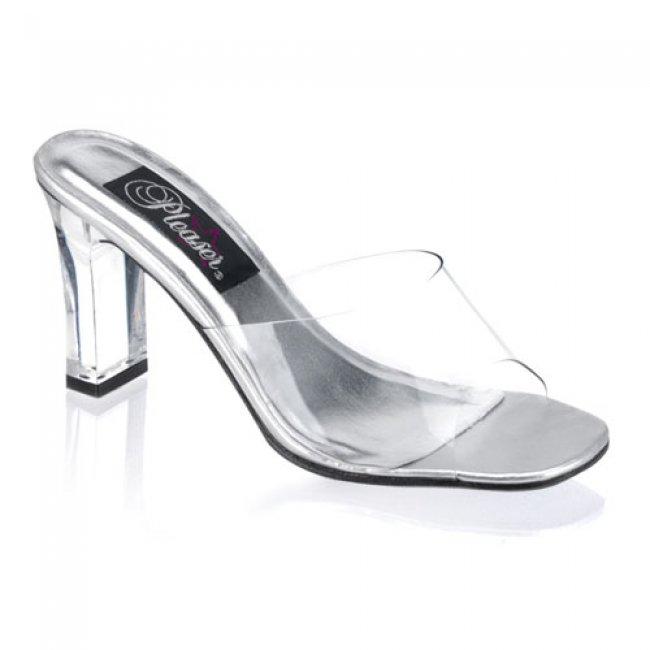 dámské pantoflíčky Pleaser Romance-301Clr - Velikost 44