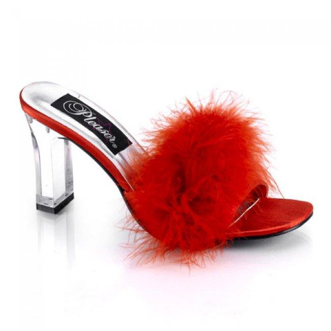 pantoflíčky dámské Pleaser Romance-301FRed - Velikost 39
