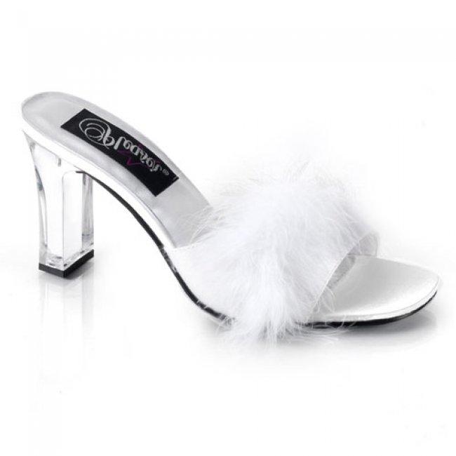 pantoflíčky dámské Pleaser Romance-301FWht - Velikost 38