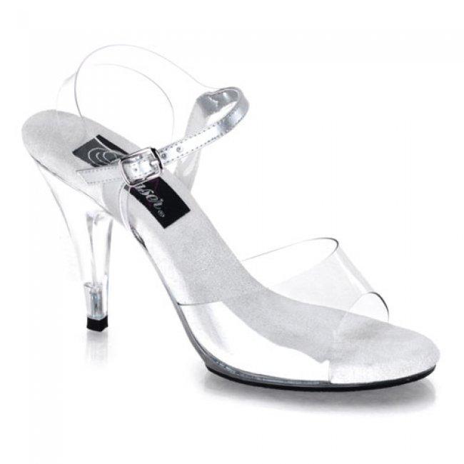 sexy sandálky Pleaser Caress-408Clr - Velikost 37