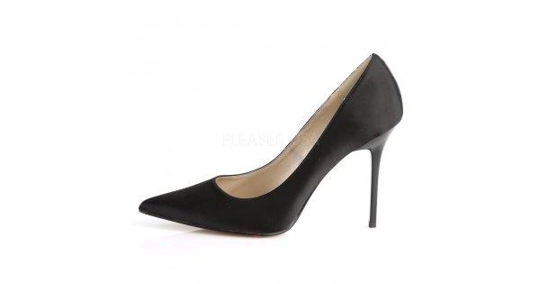 černé saténové dámské lodičky Classique-20-bsa - Velikost 42   SEXYBOTY.cz 8ac2e51dab