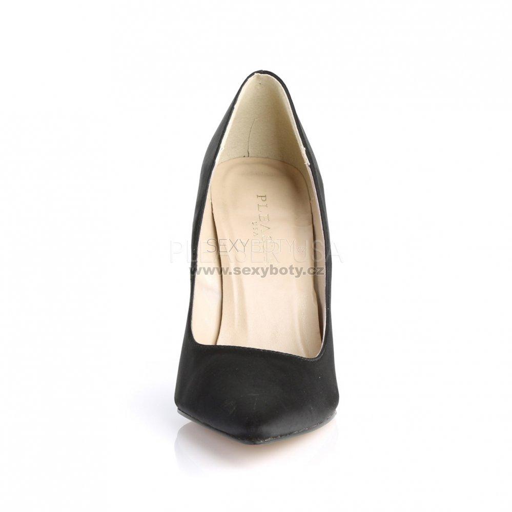černé saténové dámské lodičky Classique-20-bsa - Velikost 42 ... b05eb39854