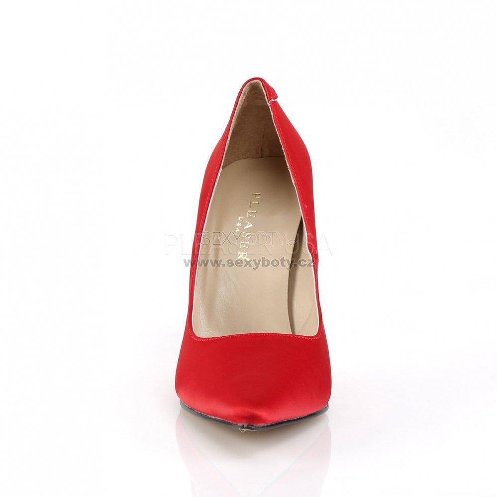 40c6198bb83 červené saténové dámské lodičky Classique-20-rsa - Velikost 46 ...
