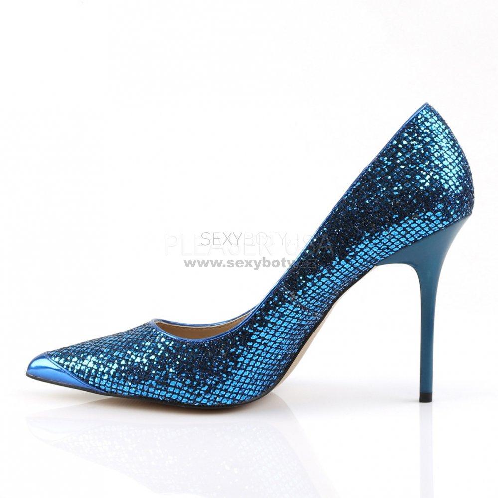modré dámské lodičky s glitry Classique-20-nbglf - Velikost 45 ... 4833d0f01b