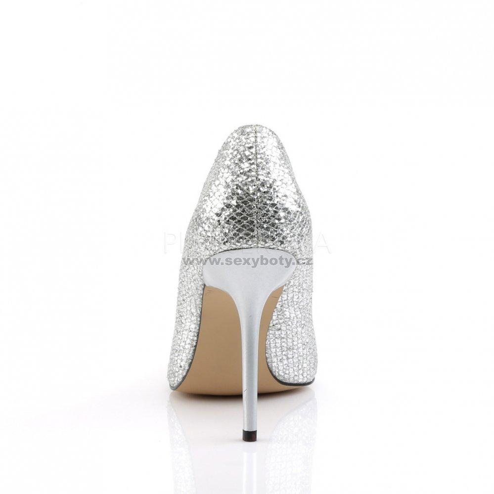308748d251a stříbrné dámské lodičky s glitry Classique-20-sglf - Velikost 35 ...