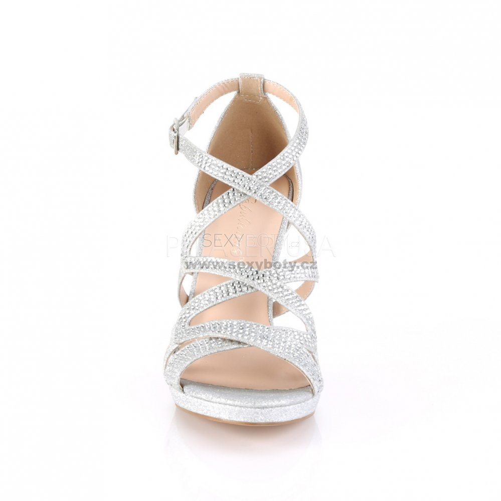 d7fd19b2c0237 stříbrné dámské páskové sandálky Daphne-42-sfa - Velikost 35 ...