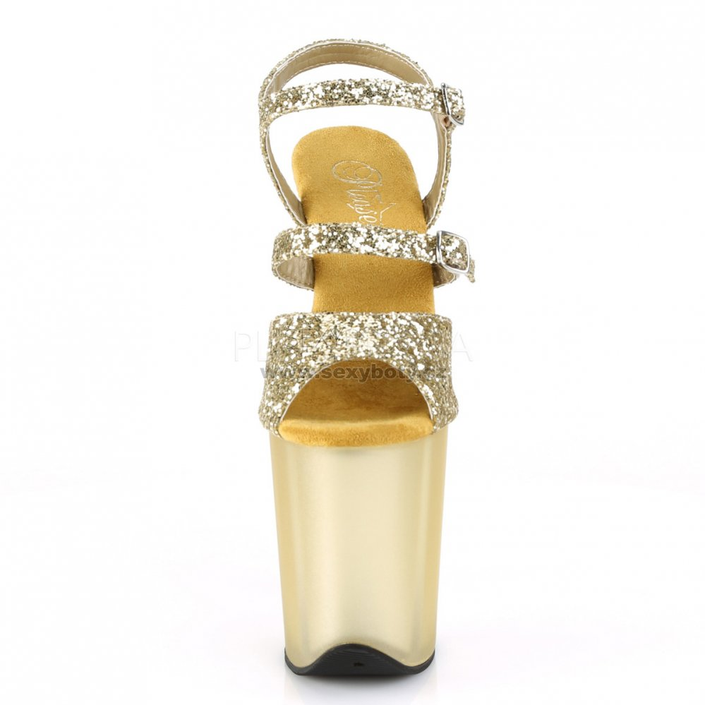 zlaté boty na extra vysokém podpatku Flamingo-874-gg - Velikost 35 ... 8271f8cafd