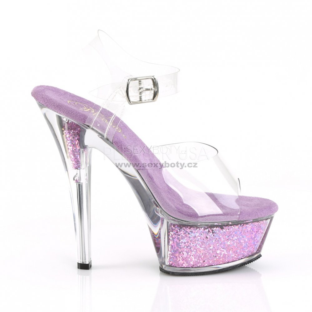 14ef89a0b001 dámské fialové sandály s glitry Kiss-208gf-clvg - Velikost 40 ...