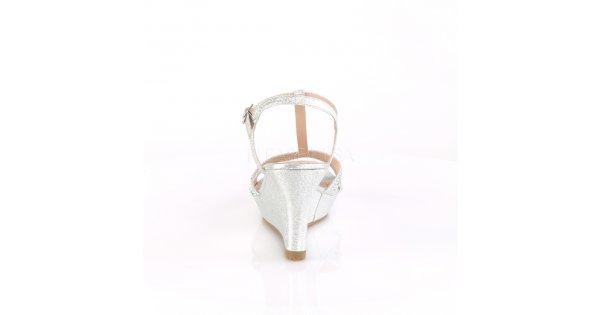 ea3298c800d3 stříbrné dámské sandálky na klínku Silvie-20-sfa - Velikost 40   SEXYBOTY.cz