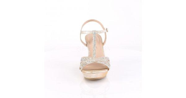 a49e0d35feca zlaté dámské sandálky na klínku Silvie-20-chafa - Velikost 41   SEXYBOTY.cz