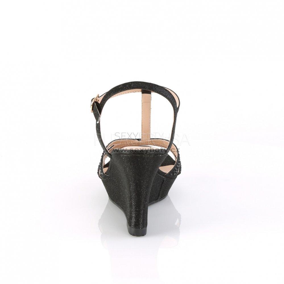 5733aead972d černé dámské sandálky na klínku Silvie-20-bfa - Velikost 41 ...