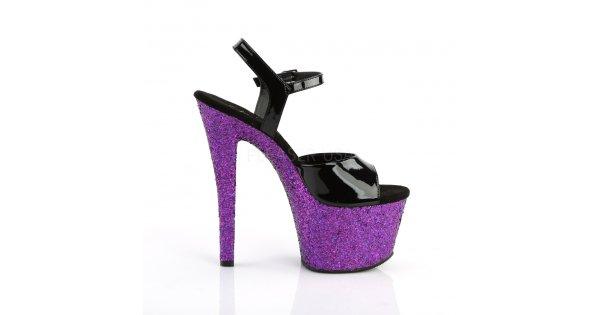 dámské fialové sandály s glitry na vysoké platformě Sky-309lg-bppg -  Velikost 41   SEXYBOTY.cz 01eb7bbd99