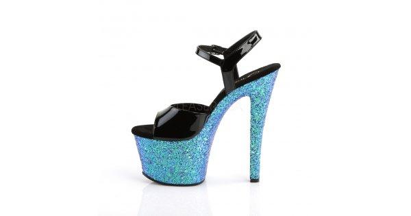 dámské sandály s glitry na vysoké platformě Sky-309lg-bblg - Velikost 39    SEXYBOTY.cz 0317477ab1