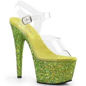 limetkové dámské sandály s glitry na vysoké platformě Adore-708lg-clmg