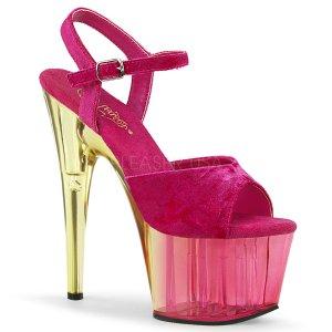 růžové dámské sandály na platformě Adore-709mct-pnvel