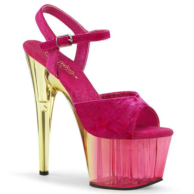 růžové dámské sandály na platformě Adore-709mct-pnvel - Velikost 35
