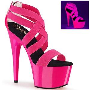 dámské růžové UV sandály na vysoké platformě Adore-769uv-nhpelspt