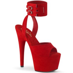 vysoké červené dámské sandále Adore-791fs-rfs