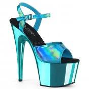 dámské modré sandály na vysoké platformě Adore-709hgch-tehgtech