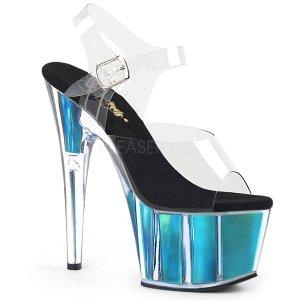 vysoké dámské sandály s modrými hologramy Adore-708hgi-cte