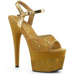 vysoké dámské zlaté sandály s glitry Adore-709-2g-gg