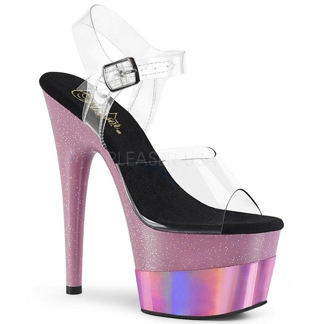 dámské sandály na vysoké platformě s glitry Adore-708-2hgm-cbpghg - Velikost 37