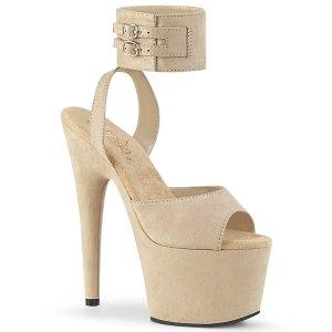vysoké béžové dámské sandále Adore-791fs-befs
